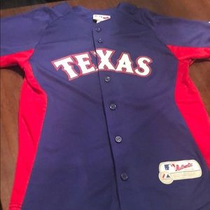 Majestic Texas Rangers MLB button down jersey